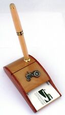 Tractor Wooden Pen and Business Card Holder Farming Gift