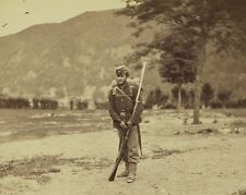 Federal 22nd New York soldier w/rifle Harpers Ferry New 8x10 US Civil War Photo