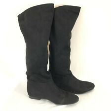 Indigo Rd Womens Boots Slouchy Over the Knee Faux Suede Black Size 6