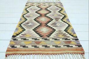 """Doormat, Turkish Barak Small Kilim Bathmat Small Carpet Teppiche Tapis 28""""x43"""""""