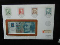 J 2048 SWITZERLAND  1979  BERN 10 FR + 20 FRANCS UNC  NOTES  REGISTERED  MAIL