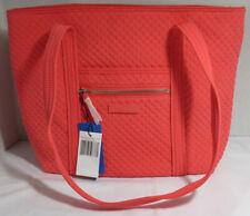 Vera Bradley Women Women's Purse Shoulder Bag ICONIC SMALL VERA TOTE CORAL REEF
