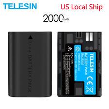 TELESIN 2Pack LP-E6 Battery 2000mAh for Canon EOS 5D2 5D3 6D 60D 70D 7D Mark II