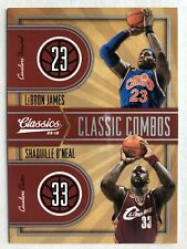 LeBron James / Shaquille O'Neal 2009-10 Panini Classic Combos Silver /250 SP
