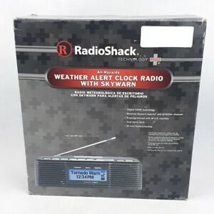 Radio Shack Weather Alert Clock Radio AM/FM WX Skywarn NOAA 12-519 Emergency NEW