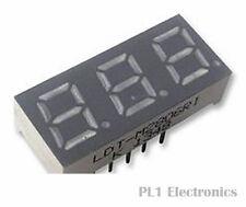 LUMEX    LDT-M2806RI    7-Segment LED Display, InfoVue, 3, 7.1 mm, Red, Common A