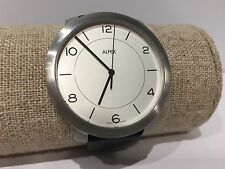 Reloj Watch Montre ALFEX Moments - Quartz 46 mm Steel - Black Leather