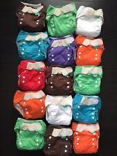 Set Of 15 Bummis Totsbots Used Cloth Diapers Reusable Bamboo Adjustable 8-35lbs