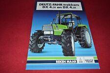 Deutz Fahr DX 4.31 DX 4.51 Tractor In Dutch Dealer's Brochure BWPA
