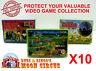 10X NINTENDO FAMICOM SMALL CIB GAME - CLEAR PLASTIC PROTECTIVE BOX PROTECTORS