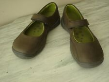 Keen Youth Luna MJ Leather Strap Shoes Size US 1 Black Olive/Woodbine NEW $55.00