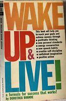 WAKE UP & LIVE by Dorothea Brande 1962 (Pocket) vintage pb