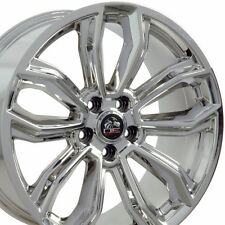 Set of 4 19x9.0 / 19x10.0 Inch OE Racing Chrome Wheels For Ford Mustang