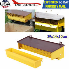 Plastic Pollen Trap Collector With Ventilated Pollen Tray Beekeeping Tool Yellow