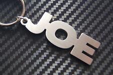 Joe nom personnalisé Porte-clé Porte-clé sur-mesure ACIER INOXYDABLE CADEAU