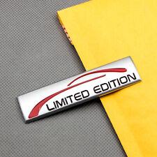 Metal Matte Silver Limited Edition Fender Emblem 3D Rear Trunk Car Badge Sticker