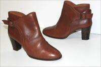 ANDRE Studio Bottines Boots Cuir Marron Noisette Doublées Cuir T 40 TBE