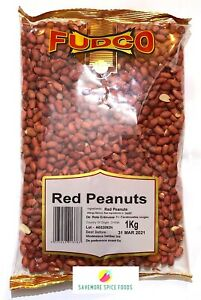 RED PEANUTS - NUTS - FRESH - ORGANIC - FUDCO - 1kg
