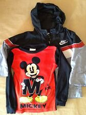 Nike & Mickey Mouse Baby Jacket Sweater Bundle Size 2T & 4T