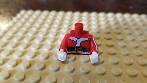 Lego Male Minifig Santa Claus Torso w/ Red Jacket White Hands Xmas Christmas