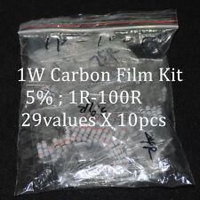 290pcs Resistor Kit 1W Watt 29values X 10pcs Resistencias Resistor Carbon Film