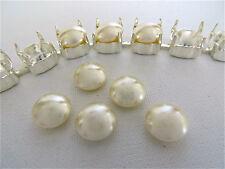 6 Cream Swarovski Crystal Cabochon Pearls 5817 8mm