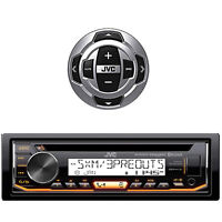 KDR99MBS JVC Bluetooth AUX CD USB Marine Receiver, JVC Marine Boat Wired Remote