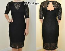 NEW RRP £50 NEXT LADIES UK 8 BLACK LACE SCALLOP DRESS