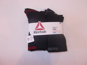 Reebok Boy's 5-Pack Performance Training Crew Cut Socks Size S M OR L