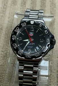 TAG Heuer Formula 1 WAC1210 Stainless Steel Date Black Dial 35mm Unisex Watch