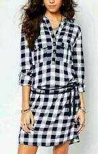 Midi shirt dress with tie belt in check by Pimkie  M