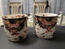 2 English Derby Cups, poss. Imari pattern, 1 repaired , marked,after. 1782