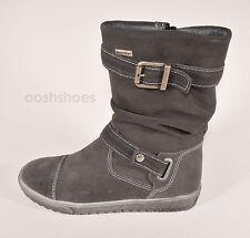 Richter Girls Waterproof Grey Suede Zip Boots UK 13 EU 32 US 13.5