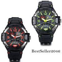 Waterproof LED Digital Alarm Date Mens Wrist Watch Military Sport Analog Watch