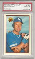 1989 Bowman Tiffany George Brett PSA 10 Gem Mint #121 KC Royals, HOF, L@@K !
