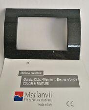 PLACCA 3 FORI MARLANVIL SERIE CLASSIC NERO FLASH 7833.T.N