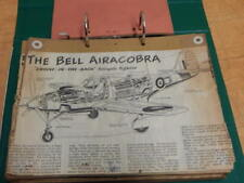 BINDER WITH WW2 + LATER MILITARY AIRCRAFT DETAILS CUTTINGS WITH SPECIFICATIONS