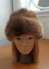 MINT NATURAL MUSKRAT FUR HAT CAP WOMEN WOMAN SIZE ALL