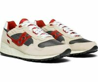 Saucony Shadow 5000 Vintage Men's Sneaker Off White/Grey/Red , Size 7.5 M