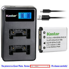 Kastar Battery LCD Dual Charger for Fuji NP-45 NP45A BC45 Fujifilm FinePix JZ300