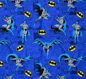 DC Comics Batman COMICS Blue 100% Cotton Fabric FAT QUARTER