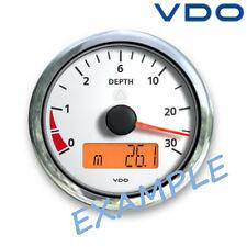 "VDO Viewline Depth Echo Temp Sounder LCD Gauge 85mm 3"" 30m White A2C59501324"