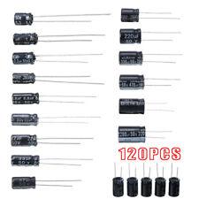 120pcs 50v 15 Values 1uf 2200uf Electrolytic Capacitors Assortment Kit Car Us
