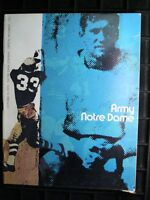 1970 (Oct. 10) Notre Dame program VS ARMY. Joe Theismann famed quarterback