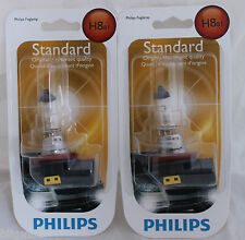 NEW PHILIPS H8 X 2 BULBS 35W OEM 12360 B1 HEADLAMP LIGHT BEAM HALOGEN FOGLAMP