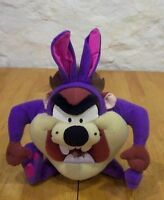 "WB Looney Tunes Tazmanian Devil TAZ AS PURPLE BUNNY RABBIT 10"" Stuffed Animal"