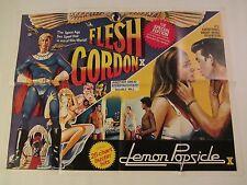 FLESH GORDON and LEMON POPSICLE Double Bill movie poster