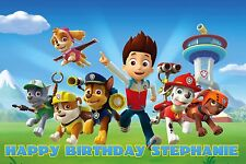 """Personalized Paw Patrol 24"""" x 36"""" Glossy Poster Birthday Name Banner Home Decor"""