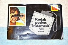 KODAK POCKET INSTAMATIC 50 ORIGINAL INSTRUCTION BOOKLET BOOK MANUAL