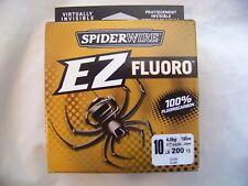 SEZFFS10-15 SPIDERWIRE EZ Fluoro 10LB  200YD 100% Fluorocarbon Fishing Line  506